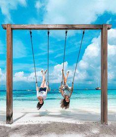 ~Good times + Crazy Friends = Amazing memories~ #vacation #wanderlust #travelbloggers #luxuryhotels #luxuryholiday #travelismypassion #visitmaldives #Sunnysideoflife #exploring #travellifestyle #lovetotravel #tropicalisland #lovetheocean #foreversummer #tropicalisland #maldives #funinthesun 📷 @shangrilamaldives Maldives Luxury Resorts, Maldives Vacation, Maldives Honeymoon, Visit Maldives, Beach Photography Poses, Travel Photography, Vacation Pictures, Travel Aesthetic, Adventure Travel
