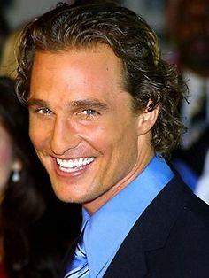 Matthew McConaughey http://totallytop10.com/wp-content/uploads/2012/08/matthew-mcConaughey-smile.jpeg
