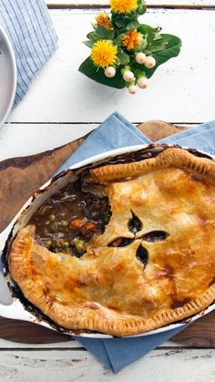 The leaves are changing, and it's getting chilly out there — get cozy with a rich, hearty short rib pot pie!