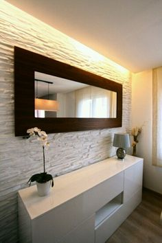 6 Best Clever Tips: Wall Mirror Entry Ways Design wall mirror interior architecture. Wall Mirrors Ikea, Lighted Wall Mirror, Rustic Wall Mirrors, Living Room Mirrors, Mirror Bedroom, Bedroom Bed, Framed Wall, Living Rooms, Master Bedroom