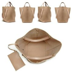 Play it safe with the Mulberry Oversized Kite Tote in Nude & Buttercream Flat Calf. Just gorgeous!
