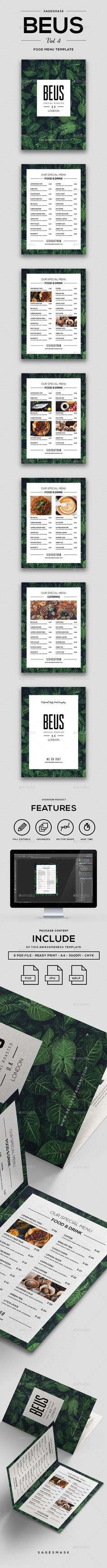 Minimal Food Menu Beus - Food Menus Print Templates Download here : https://graphicriver.net/item/minimal-food-menu-beus/19218671?s_rank=84&ref=Al-fatih