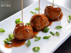 Turkey Sriracha Meatballs - Budget Bytes