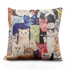 Weitengs Linen Square Decorative Pillowcase Home Decor Sofa Cotton Throw Pillow Cover 18x18 >>> You can get additional details at the image link. (This is an affiliate link and I receive a commission for the sales) #FireplaceAnd Accessories