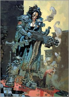 god-fearing-atheist: Heavy Metal - Simon Bisley - F A K K 2 Simon Bisley, Arte Heavy Metal, Chica Heavy Metal, Heavy Metal Comic, Comic Book Artists, Comic Artist, Comic Books Art, Sci Fi Kunst, Comic Kunst