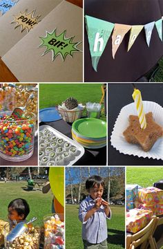 Super Hero Birthday Party- this site has FANTASTIC ideas that are actually do-able without having to pay someone on etsy for every little thing- no insult to etsy! :)