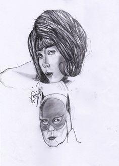 bueno este dibujo le realice a la bati chica Yvonne Craig espero que les guste también