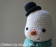 { Amour Fou | Crochet }: { Patrón Gratis: ¿Y si hacemos un muñeco? | Free Pattern: Do you want to build a snowman? }