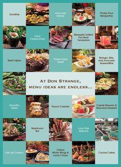 Signature Menu Items - Don Strange of Texas Inc.