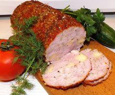 domowe smakołyki: Pieczeń z żółtym serem Polish Recipes, Polish Food, Meatloaf, Food And Drink, Keto, Kitchen, Canning, Ground Meat, Homemade