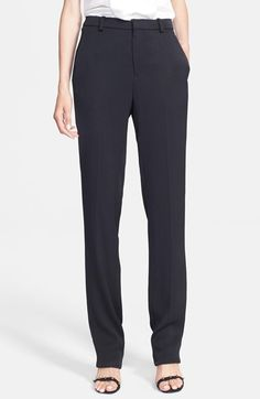 Lanvin Straight Leg Techno Crepe Pants available at #Nordstrom