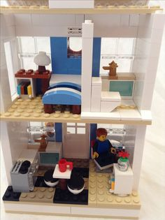 Cute Blue Lego House Interior Part 29