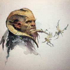 "Karl Kopinski, ""Old watercolour sketch"""
