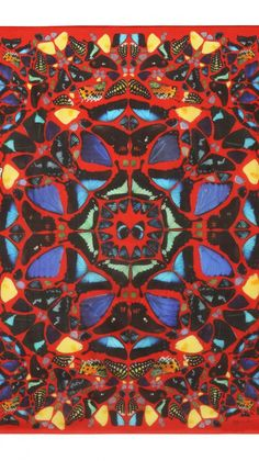 Collaboration of Alexander McQueen and artist Damien Hirst, scarf, 2003