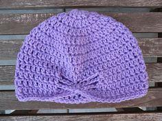 crochet hat made with vintage yarn, crochetbug, purple, lavender, crochet cap,