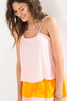 blusa rolote decote - blusas farm
