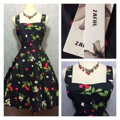 Betty Page 50s Pin Up Rockabilly Swing Cherry Print Dress NWT 1XL  | eBay