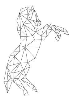 65 Ideas Tattoo Geometric Horse Tat For 2019 Geometric Quilt, Geometric Drawing, Geometric Designs, Stylo 3d, Polygon Art, Tape Art, 3d Pen, Geometry Art, Horse Art