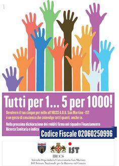 """Tutti per 1...5 per 1000!"" campagna San Martino firmata Gooocom."