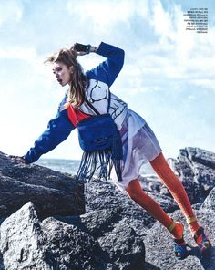 FAY for VOGUE Korea - 2014. Women's Spring - Summer 2014 collection - Bomber Jacket.