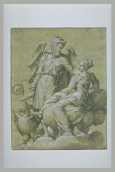 ABATE Nicolo' dell' Ecole lombarde Jupiter et Junon