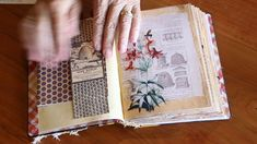 Bee Keepers Journal, book cloth and pillow box redesign