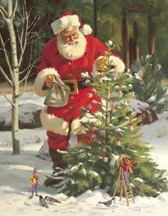 Santa Claus Posters and Art Prints - Christmas Pictures Christmas Scenes, Christmas Past, Father Christmas, Christmas Pictures, Winter Christmas, Xmas, Santa Pictures, Santa Clause Pictures, Snow Art