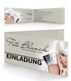 Fete Blanche Einladungskarten mit Falz Seite von www.onlineprintxxl.com #onlineprintxxl #einladungskarte #einladungskartenfeteblanche