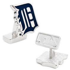 Detroit Tigers MLB Palladium Plated Cufflinks