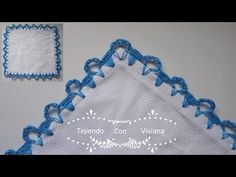 Recently shared orillas de crochet de una vuelta ideas & orillas de crochet de una vuelta pictures Crochet Border Patterns, Crochet Lace Edging, Crochet Trim, Love Crochet, Diy Crochet, Crochet Designs, Crochet Stitches, Crochet Waffle Stitch, Crochet Mask