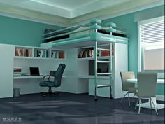 Sample works of interior designs done in 3DMAX and rendered with Mental Ray