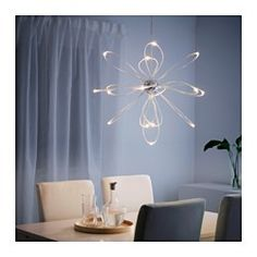 IKEA - ONSJÖ, LED chandelier,  , , The LED light source consumes up to 85% less energy and lasts 20 times longer than incandescent bulbs.The tubes with LEDs create exciting lighting effects and look like the path of fireflies flying in the air.