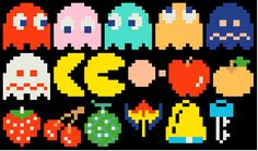 Pacman cross stitch and needlepoint patterns… Cross Stitching, Cross Stitch Embroidery, Cross Stitch Patterns, Fuse Beads, Perler Beads, Pixel Art, Wallpaper Animes, Retro Arcade, Mini Cross Stitch