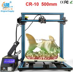 CREALITY 3D CR-10 large printing machines 500*500*500mm Desktop 3d printer diy LCD Screen Display V-solt 1.75mm 0.4mm Nozzle