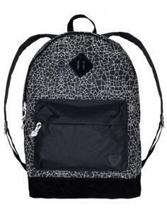 D-Struct Mens Black Arley Backpack, The New School, Back To School, School Terms, Canvas Backpack, Black Nylons, Boy Fashion, Fashion Backpack, Zip Ups, Backpacks