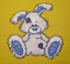 Bunny  machine embroidery design of a by ArtEmbroideryDesigns, $6.00