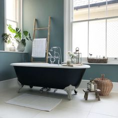 I love taking inspiration from traditional rustic French style and mixing it with clean contemporary Scandinavian design. Home Living Room, Living Spaces, Rustic French, Table Arrangements, Room Tour, Clawfoot Bathtub, Fashion Branding, Home Renovation, Scandinavian Design