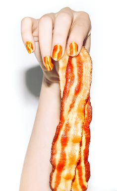 sizzling bacon nail wrap