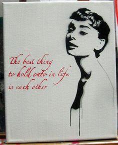 Audrey Hepburn Mini Stencil by Free Humanity, via Flickr