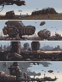 ArtStation - Industrial Set - Worldview Sci-Fi Art Book, James Ledger
