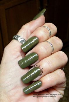 OPI Uh-Oh Roll Down the Window, Loreal Because You're Worth It, LeaLac LLC-B stamp
