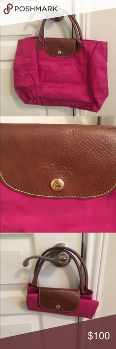 Longchamp Tote Le Pilage Hot pink tote, worn once, no zipper Longchamp Bags Totes