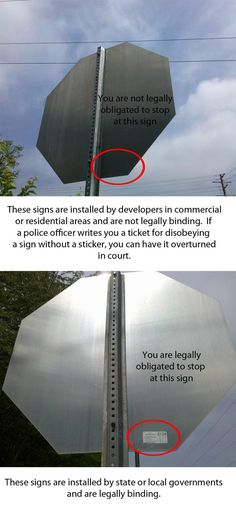 you are not always legally obligated to stop at stopsigns... GOOD TO KNOW