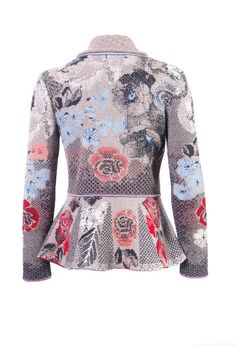 Brocade Jacket with Pleats - Jacket | Ivko Woman