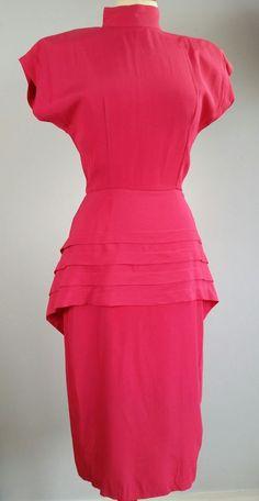 Ladies Pink Vintage 1980s Dress size 8/10 1980s Dresses, Shoulder Pads, Secretary, Vintage Pink, Ebay Clothing, Peplum Dress, Lady, Clothes, Women