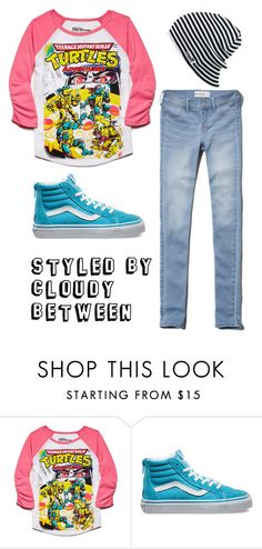 """""""Tween Fashion TMNT"""" by cloudybetween ❤ liked on Polyvore featuring Forever 21, Vans and Neff"""