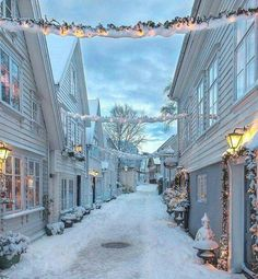 The stunning city of Stavanger in the snow, Norway Norway Winter, Winter Szenen, Winter Magic, Winter Christmas, Norway Christmas, Christmas Time, Christmas Lights, Norwegian Christmas, Merry Christmas