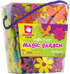 Fibre Craft Foam Stickers, 5-Ounce, Magic Gardens