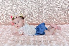 Blush Sequins & Ruffles Boho Glam Baby Photography Birthday Cake Smash, First Birthday Cakes, Cake Smash Pictures, Baby Portraits, Family First, Photography Photos, Photo Studio, First Birthdays, Ruffles