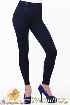 Elastyczne legginsy z zamkami z tyłu na dole nogawek marki Paulo Connerti.  #cudmoda #moda #ubrania #odzież #clothes #spodnie #legginsy #leginsy